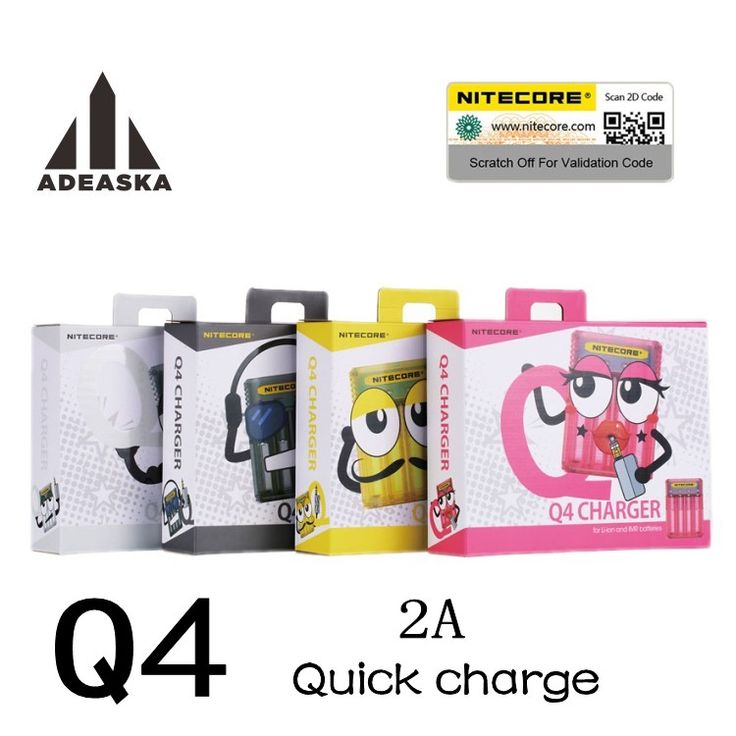 Q4 Original <font><b>Nitecore</b></font> Cargador de Batería Inteligente de Carga para 18650 14500 16340 26650 Cargador de Baterías Baterías de humo forElectronic