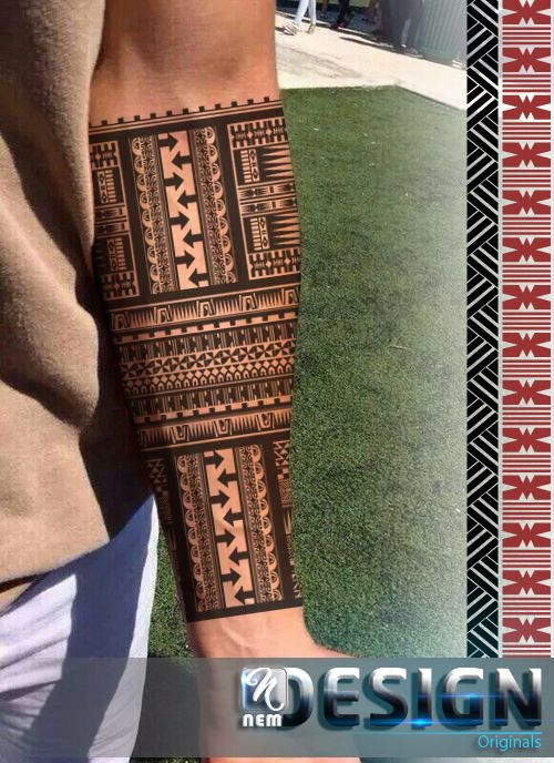 Fijian traditional tattoo design at perfect glance! Lovely piece, arm-band #Fiji #tattoo