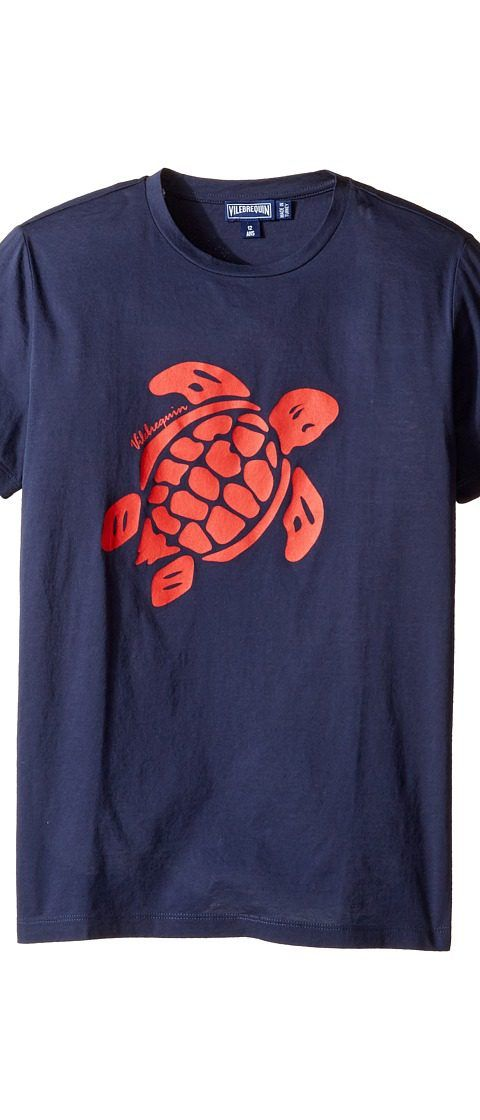 Vilebrequin Kids Turtle Graphic Tee (Toddler/Little Kids/Big Kids) (Navy/Red) Boy's Swimwear - Vilebrequin Kids, Turtle Graphic Tee (Toddler/Little Kids/Big Kids), TAG7513E-390, Apparel Top Swimwear, Swimwear, Top, Apparel, Clothes Clothing, Gift, - Street Fashion And Style Ideas
