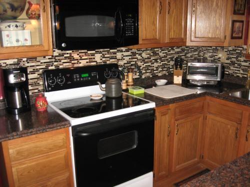Backsplash Stick On Tiles Kitchen Glazed Cabinets Smart Tiles, 10.13 In. X 10 Peel And Mosaic ...