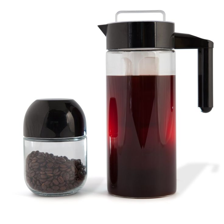 Redefining Ice Cold Brew Coffee Making | Extra Glass Jar with Black Built-in Measurement Cup Included | Fine Mesh Filter | Fruit & Tea Infuser Included | BPA Free | Scandinavian Design | Glass Carafe