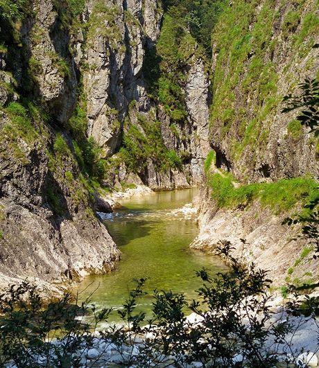 Rakousko. Tzv. Velký kaňon v Reichraminger Hintergebirge