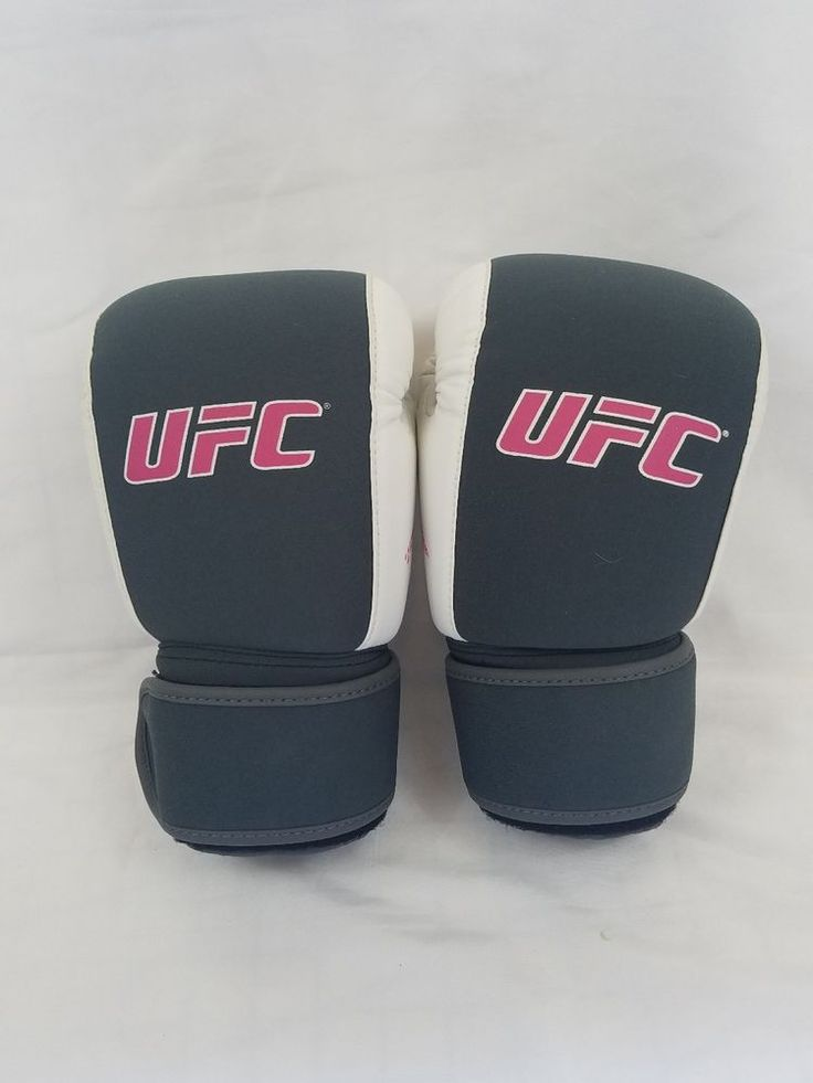 Used Womens 12oz UFC Boxing Gloves, Gray, Pink, White, Sportswear, Fight | Sporting Goods, Boxing, Martial Arts & MMA, Gloves - Boxing | eBay!