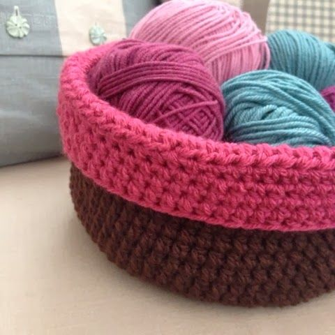 Craft House Magic: Rolled over crochet bowl