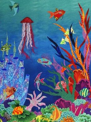 "Fantasy Fish Wallhangings, ""Underwater Oasis"" (Debbie Jones)"