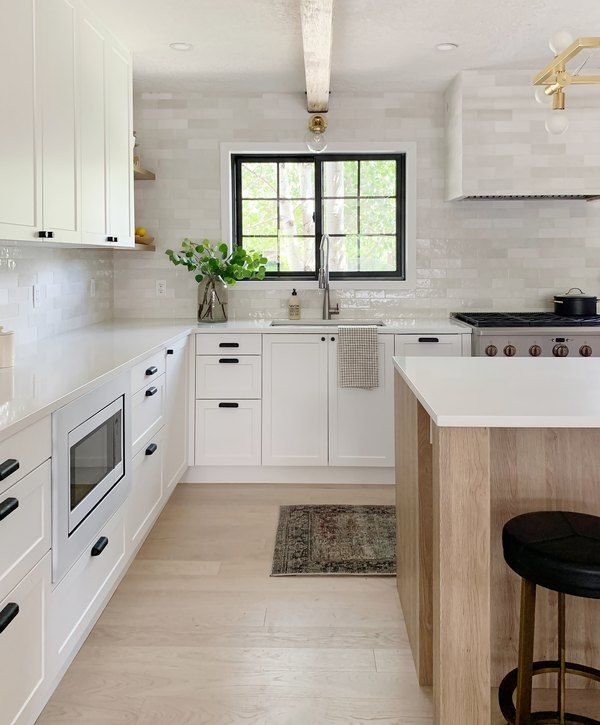 This Stunning Kitchen Makeover By Chris Loves Julia Features An Ingenious Ikea Hack Hunker In 2020 Kitchen Renovation Kitchen Remodel Budget Kitchen Makeover