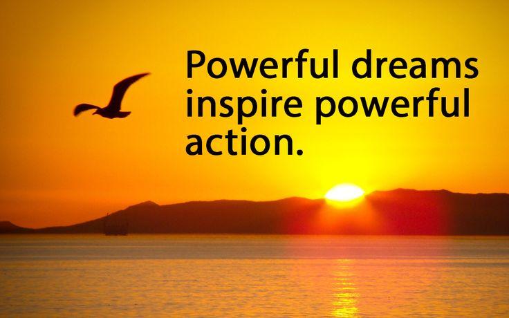 Dream powerfully. #GiveGoodEnergy