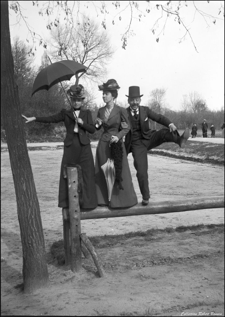 Goofing around, c. 1900.