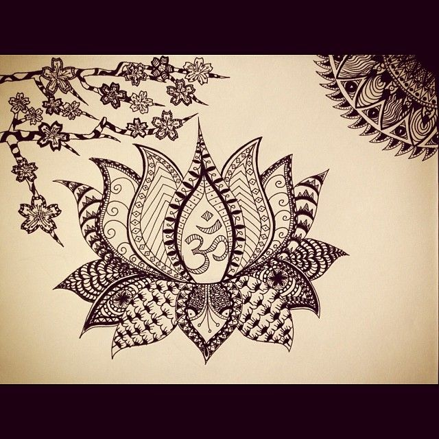 Imgs For > Lotus Flower Drawing Tumblr