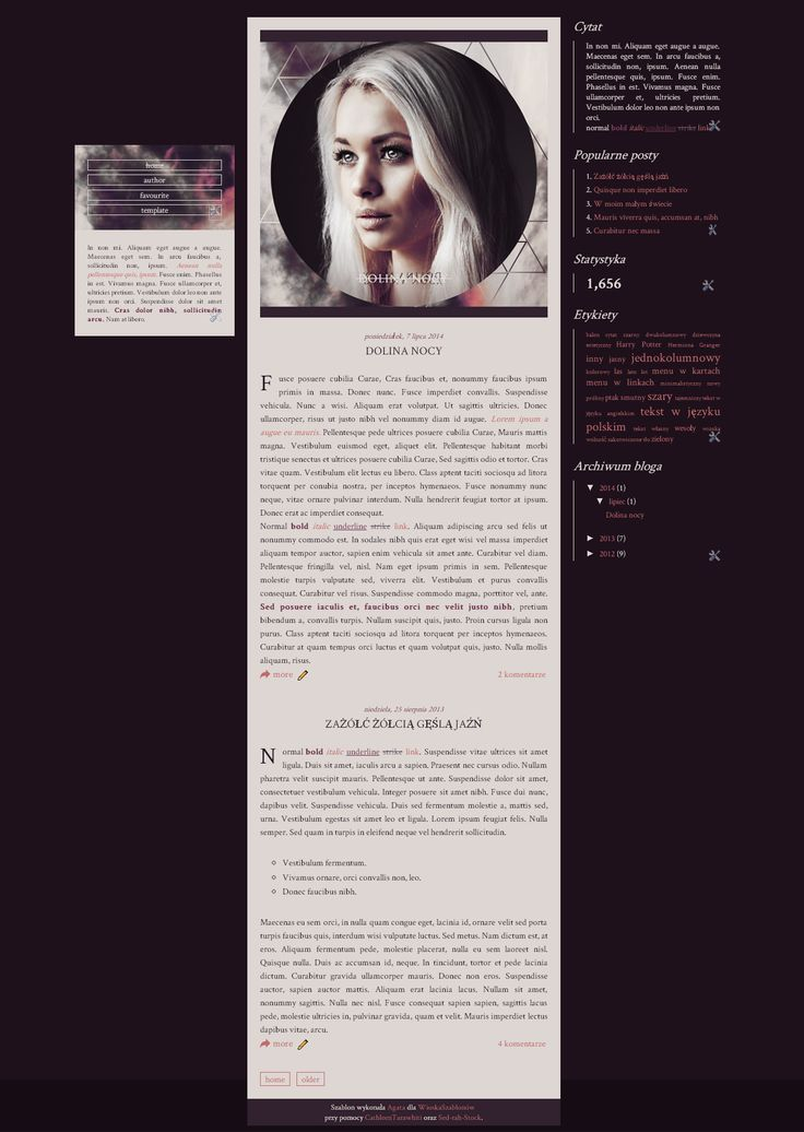 Blogger template Dolina nocy by stupid-owl