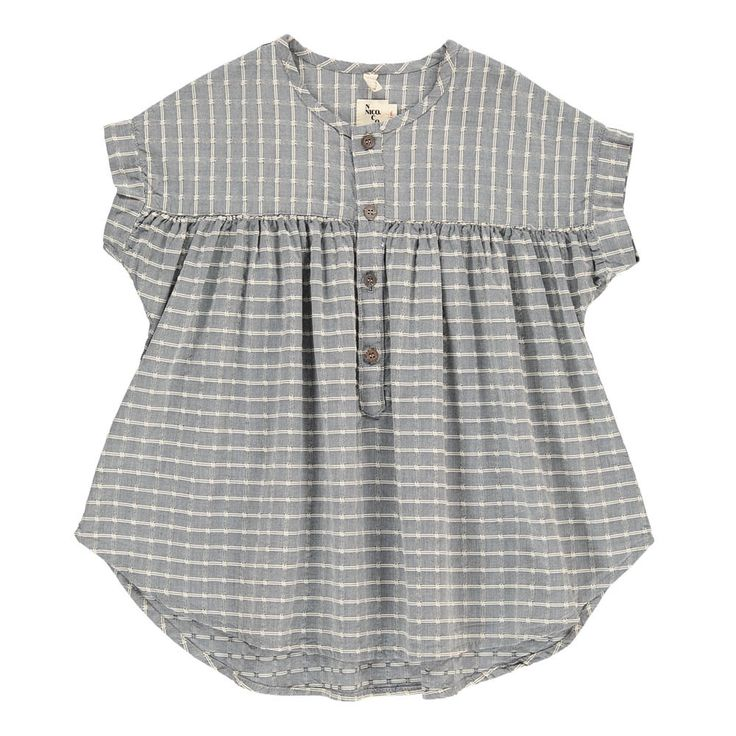 Alana Checked Button Dress Nico Nico Children- A large selection of Fashion on Smallable, the Family Concept Store - More than 600 brands.