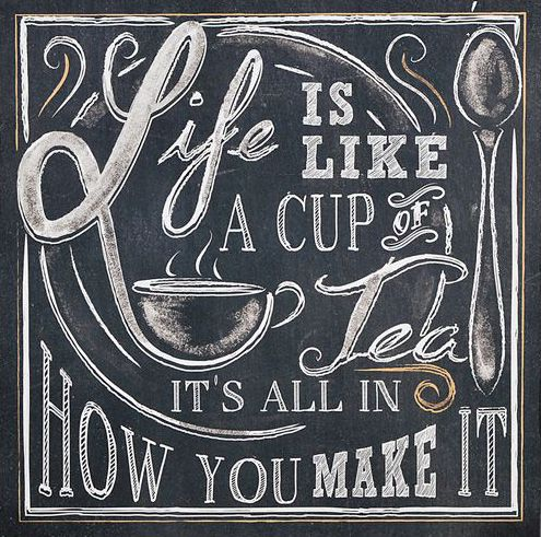 'Life Is Like a Cup of Tea' Wall Sign