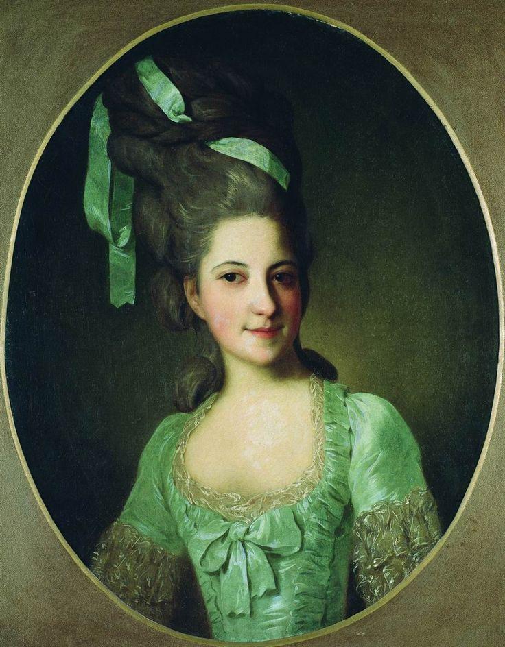 1770s Fedor Rokotov - Portrait of countess Daria Ivanovna Uvarova