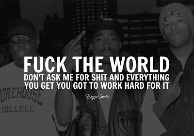 Fuck the world today lyrics message simply