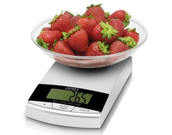Balanza de alimentos con pantalla digital y Bowl Capacidad 3 kg. ATMA