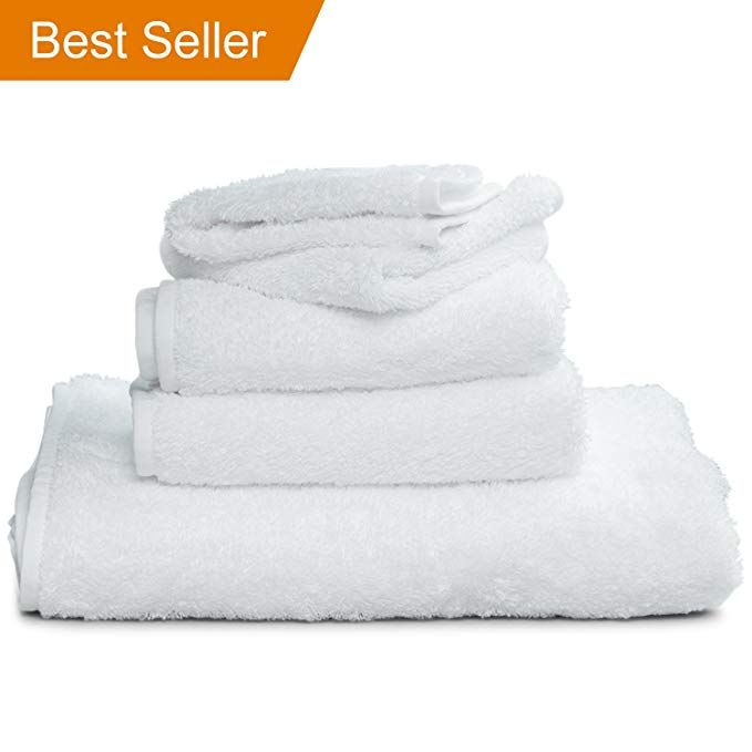 White Supima Bath Towels 30 X 60 Large Luxury Towel Features Sewn In Loop To Hang From Hook Made Of 100 Usa Grown Cotto Luxury Towels Bath Towels Towel
