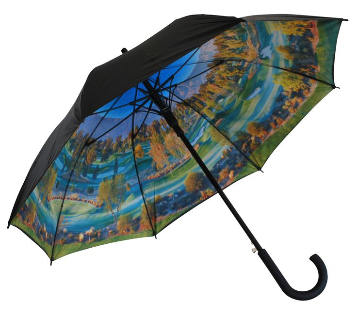 'Tee Time' Classic Umbrella | Where I'd Rather Be | http://www.whereidratherbe.co.uk/products/tee-time-classic-umbrella