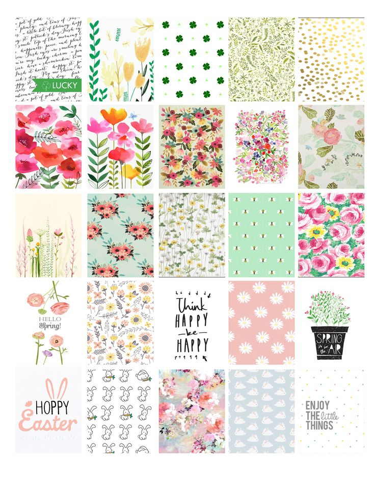 "Pretty things to print: March-April Erin Condren planner stickers ""patternlove"