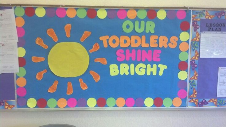 Toddler classroom board