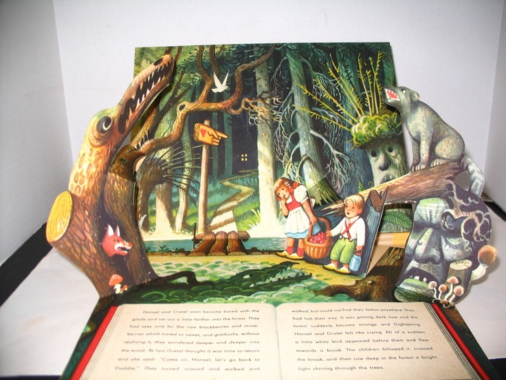 Hansel and Gretel Pop Up Vintage Book Designed Kubasta Czech 1961 Fairy Tale | eBay