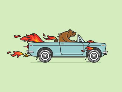 Bear On Fire by Igor Petrov