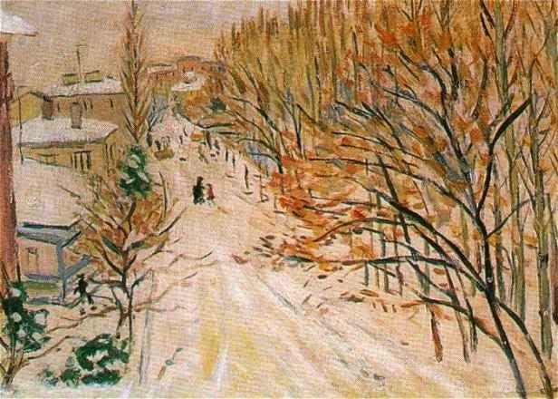 Eşref Üren (Turkish, 1898-1984) - Winter In Ankara