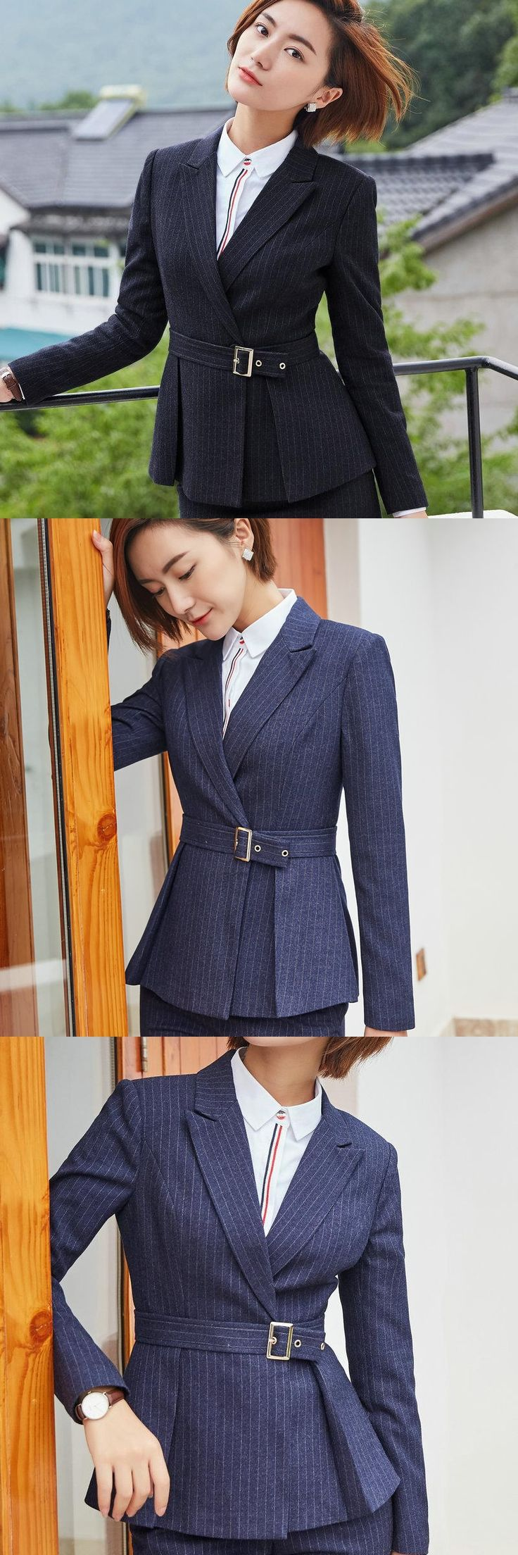 Office Lady Elegant Jacket Blazer Femme Long Sleeve Slim Blazers Mujer Single Breasted Formal Jackets Blaser Women Suit Coat