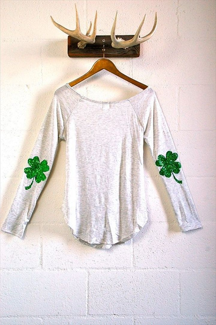 Leaf Clover Shamrock Elbow Patch- 20 Perfect DIY Elbow Patches Design   DIY to Make