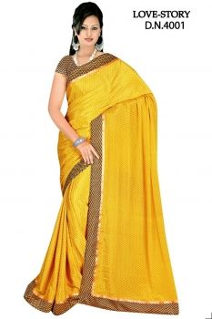 Sakshi Love Story Collection Yellow Color Georgette Saree (Offer Price: Rs 1250 , Offered Discount: 31%) ** BUY NOW ** [MRP: Rs 1800]
