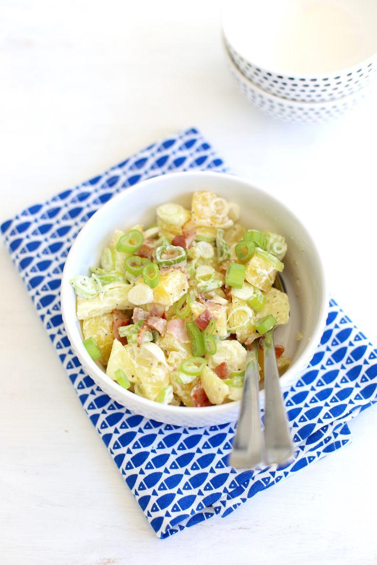 Aardappel #salade met spek en bosui