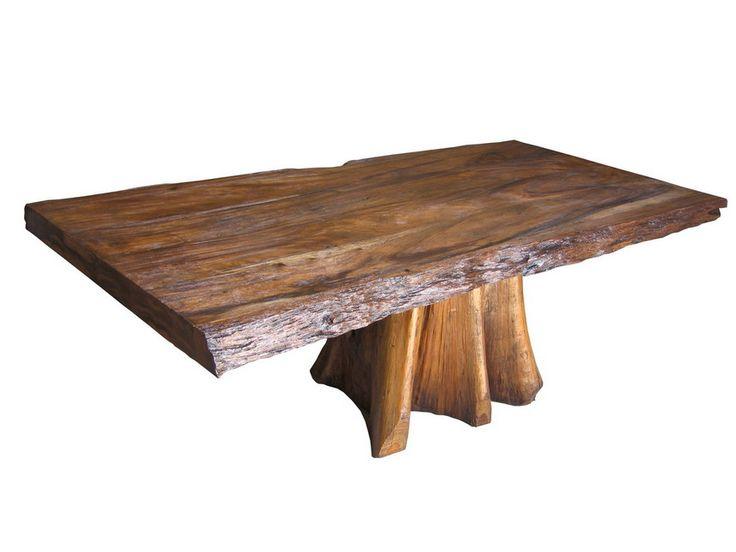 SLAB DINING TABLE WOOD WITH NATURAL TEAK LOG BASE http  : 369ea74014e867a638f09c9c898ab243 log base teak from www.pinterest.com size 736 x 552 jpeg 33kB