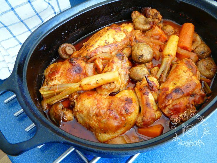 O varení, živote a tak...: Kurča na provensálsky spôsob