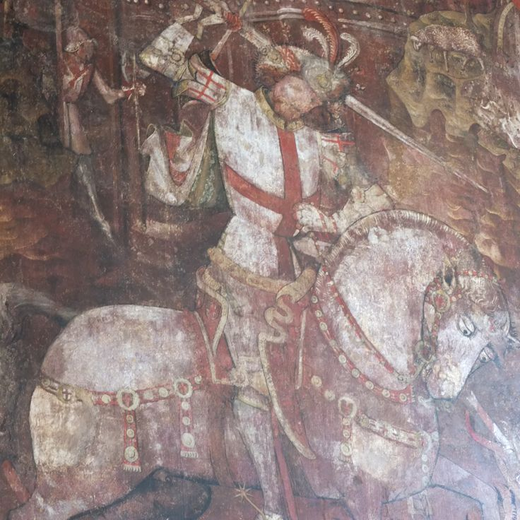 15th century wall painting in St Gregory's Church