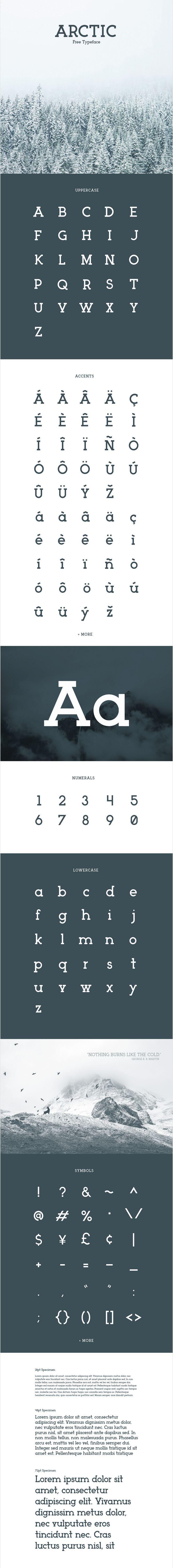 Arctic is a modern slab serif typeface by Matt Ellis.