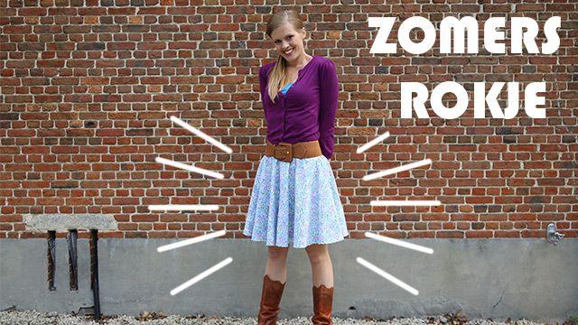 Vitaya Rok en Rol : Zomers rokje, erg makkelijk om te maken. (Video)