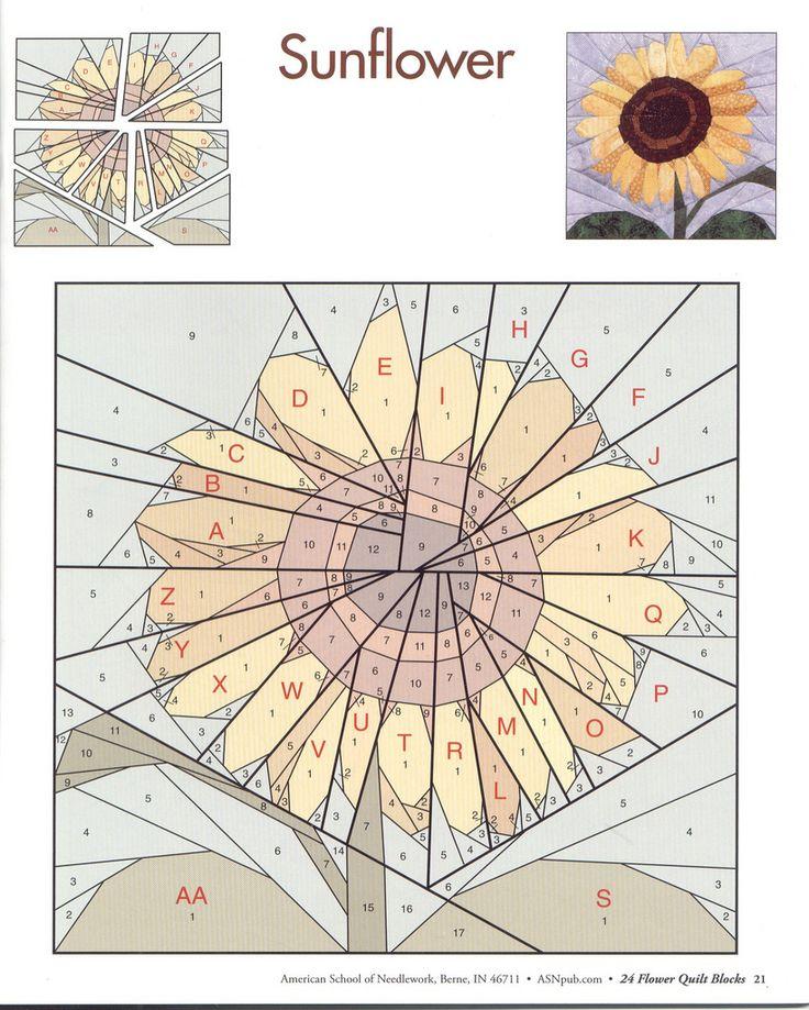 24 Flower Quilt Blocks 21 Paper Pieced Quilt Patterns