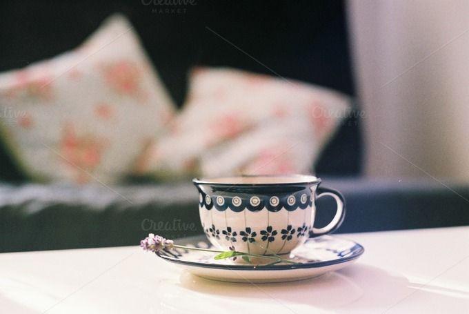 Coffee in a cup by Kasia Górska on Creative Market