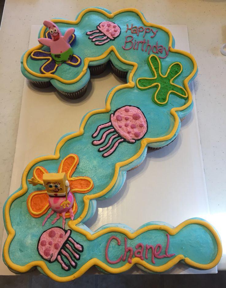 Spongebob Square Pants Cupcake Cake Buttercreams Cakes