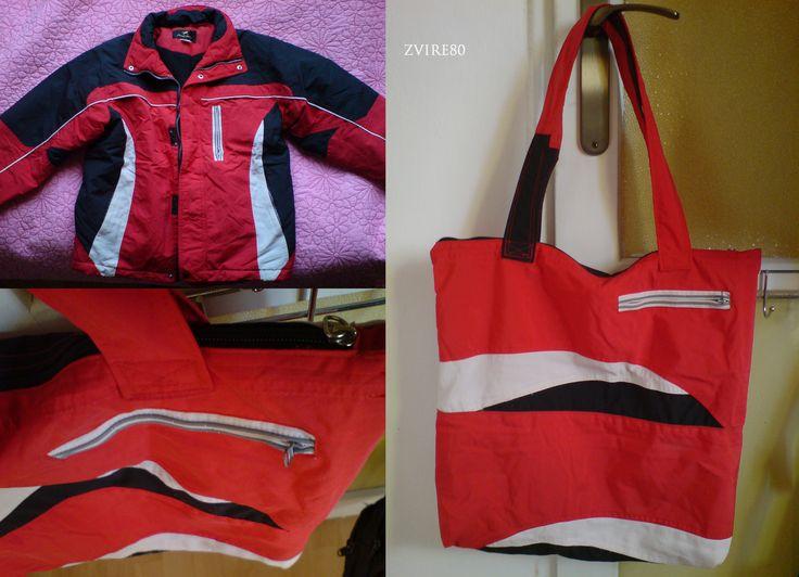 kabelka ze zimní bundy