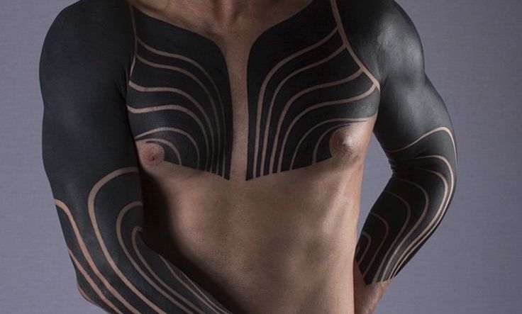 Tatuajes de cuerpo entero o blackout - #tatuajes #tatoo #blackout, #coverup #bodyart