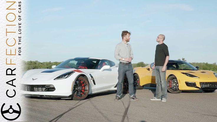 Corvette Grand Sport Vs Lotus Evora 400 - UK Vs USA [Carfection] #cars #autos #performance #lotus #corvette #chevrolet #lotusevora #corvettegrandsport #gm #carfection