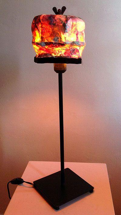 Lampshade/lampenkapje Bonnet feu du coeur door MargrietThissen
