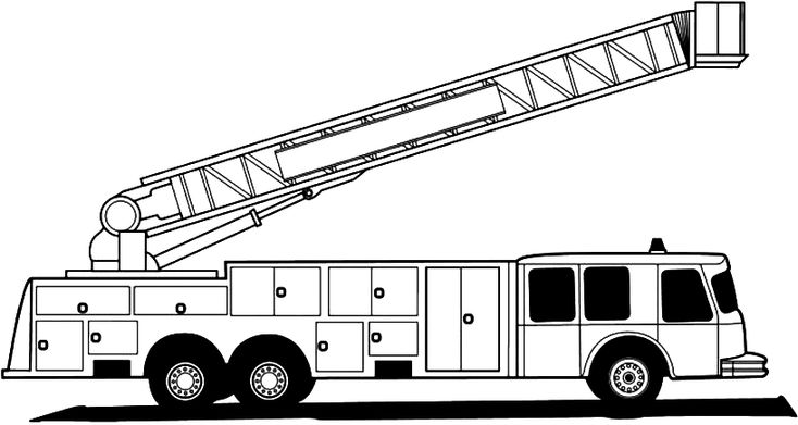 Fire Truck Coloring Pages Auto De Bomberos Para Colorear