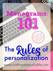 The best way to personalize and apply a monogram. Personalization guidelines when using monograms.