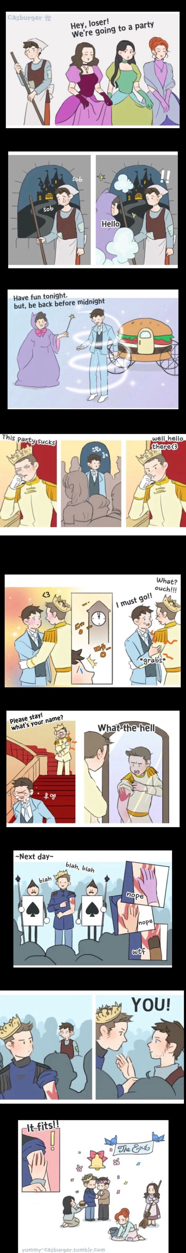 Destiel the cheeseburger at the end XD too adorable