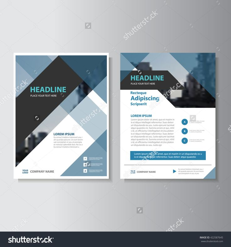Blue and black Abstract corporate Leaflet Brochure
