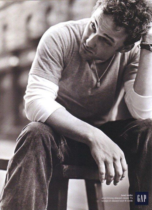 Relaxed fit boot cut cords, modeled by the late Brad Renfro. | 25 Celebs You Probably Forgot Modeled For The Gap In The Early 2000s