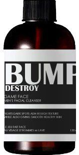 Game Face Men's Cleanser by HBD Bump Destroy. $19.99. Filled with 17 Plant Active Skin Perfecting Ingredients. SLS, SLES, Paraben, Glycol, Chloride and Alcohol Free. No animal testing and hypoallergenic. Fights Bumps, Blemishes and Wrinkles. All Natural and Made Fresh to Order. This all natural face wash is gentle enough to not strip your face of its natural oils, yet powerful enough to remove the dirt, gunk and excess oils. Fights acne, blemishes, dark marks, redness ...
