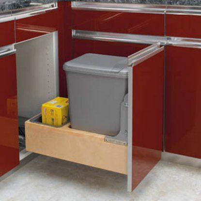 Rev-A-Shelf Single Rev-A-Motion Pull Out 35 qt. Trash Can - Kitchen Trash Cans at Hayneedle