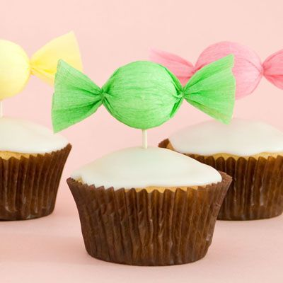 How to make a candy cupcake toppers